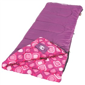 coleman youth girls rectangular sleeping bag