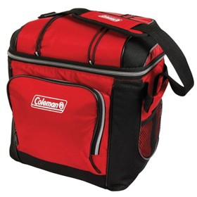 coleman soft cooler red 30