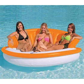 airhead ahds floating couch series tangerine