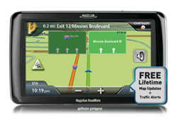 Magellan 7inch with Lifetime Maps  magellan roadmate 9212t lm