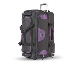 Shop by Size travelpro 26 inch drop bottom rolling duffel black purple