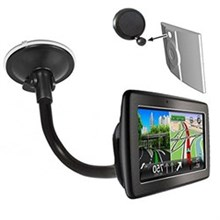 Mounts tomtom gooseneck windshield suction cup mount