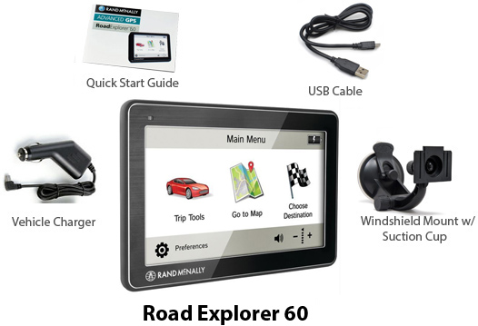 randmcnally road explorer60 gps
