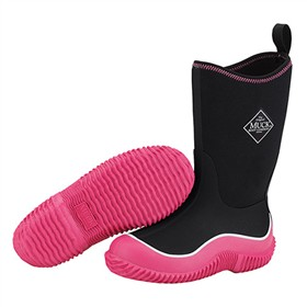 the muck boot company youth hale black pink