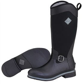 the muck boot company womens reign tall black gunmetal