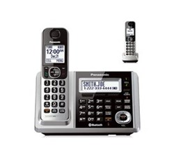 Panasonic 2 Handsets Cordless Phones panasonic kx tgf372s