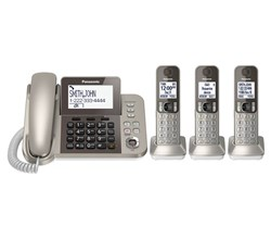 Panasonic Single Line Cordless Phones 4 Handsets panasonic kx tgf353n