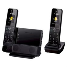 Panasonic 2 Handsets Cordless Phones panasonic kx prd262b