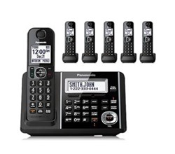 Panasonic 6 or More Handsets Cordless Phones Panasonic kx tgf346b