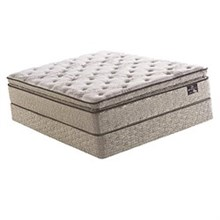 Serta King Size Plush Pillow Top Mattress and Boxspring Sets edgeburry spt set
