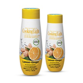sodastream cooking light lemon ginger sodamix 2 pack