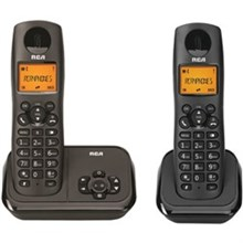 General Electric RCA DECT 6 Two Handset Cordless Phones ge rca 2162 2bkga