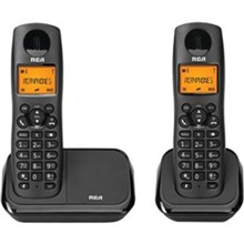 General Electric RCA DECT 6 Two Handset Cordless Phones ge rca 2161 2bkga