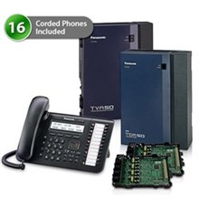 Telephone Systems panasonic kx tda50g dt543 2cards vm