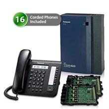 16  Phone Bundles panasonic kx tda50g dt521 2 card
