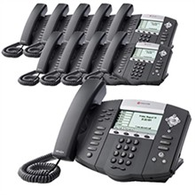 Polycom 6 Line SIP VOIP Phones 2200 12651 025