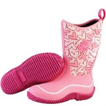 Pink Muck Boots youth hale pink hearts
