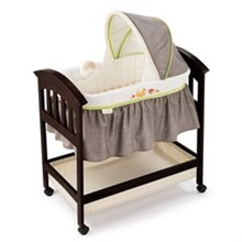 Summer Infant Play Yards And Bassinets summer infant classic comfort wood bassinet fox and friends