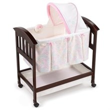 Summer Infant Play Yards And Bassinets summer infant classic comfort wood bassinet bedtime blossom