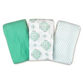 summer infant swaddleme muslin blanket 3 pack   ornate geo
