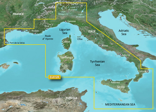 garmin bluechart g2 heu012r italy west coast