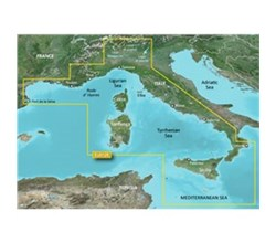 Meriterranean Sea Bluechart Maps  garmin bluechart g2 heu012r italy west coast