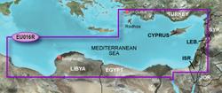 Meriterranean Sea Bluechart Maps  garmin bluechart g2 heu016r mediterranean southeast