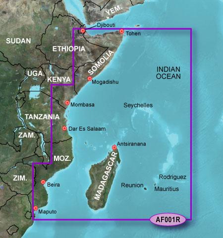 garmin bluechart g2 haf001r eastern africa