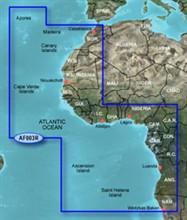 Garmin Africa BlueChart Water Maps garmin bluechart g2 haf003r western africa