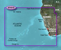 Garmin Africa BlueChart Water Maps garmin bluechart g2 haf451s nambia to knysna sa