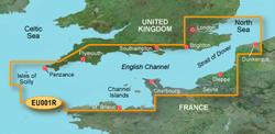 U.K. Bluechart Maps garmin bluechart g2 heu001r english channel