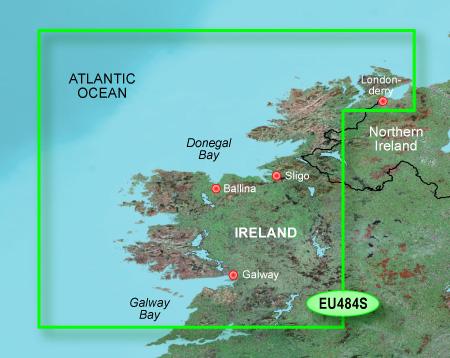 garmin bluechart g2 heu484s ireland north west