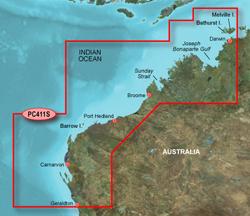 Garmin Australia BlueChart Water Maps garmin bluechart g2 hpc411s geraldton to darwin
