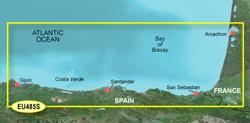 Spain Bluechart Maps garmin bluechart g2 heu485s fuenterrabia to gijon