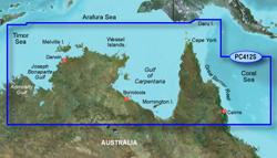 Garmin Australia BlueChart Water Maps garmin bluechart g2 hpc412s admiralty gulf wa to cair