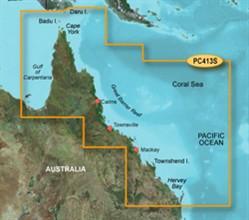 Garmin Australia BlueChart Water Maps garmin bluechart g2 hpc413s mornington island hervey bay