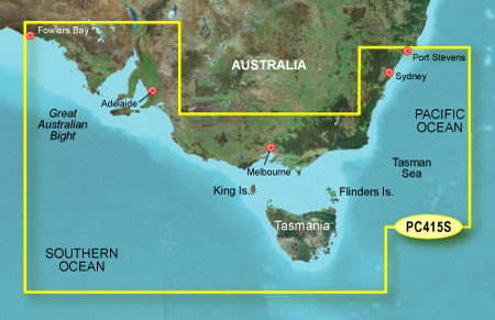 garmin bluechart g2 hpc415s port stephens fowlers bay