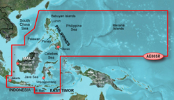 Garmin Asia BlueChart Water Maps garmin bluechart g2 hae005r phillippines java mariana