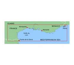 Meriterranean Sea Bluechart Maps  garmin bluechart g2 heu466s golfe du lion to san remo