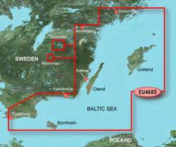 Sweden Bluechart Maps garmin bluechart g2 heu468s sodertalje to trelleborg
