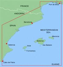 Spain Bluechart Maps garmin bluechart meu454s barcelona and valencia