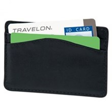 Travelon RFID Wallets travelon safe id leather card sleeve