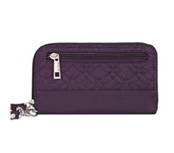 Travelon RFID Wallets Travelon Signature Embroidered Phone Clutch Wallet