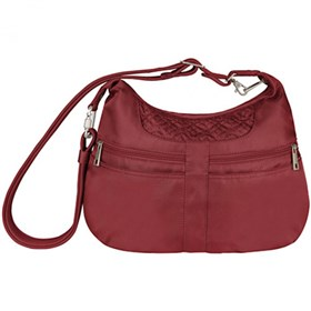 travelon anti theft signature multi pocket hobo bag