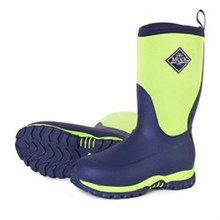 Girls Muck Boots Kids Youths Rugged II Navy/Green