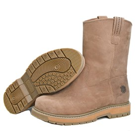 wellie comp toe brown med