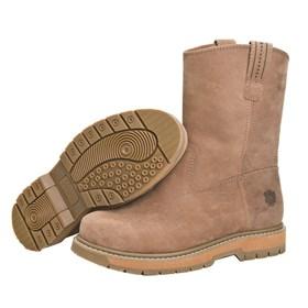 wellie comp toe brown med