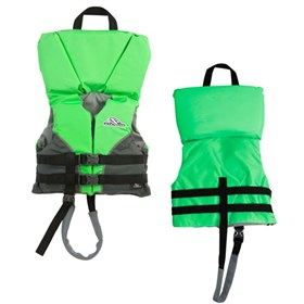 stearns infant heads up nylon life vest jacket green