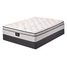 Serta Twin Extra Long Plush Pillow Top Mattress and Boxspring Sets Tierny SPT Set
