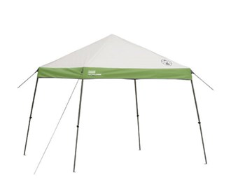 coleman 10 ft x 10 ft wide base instant canopy